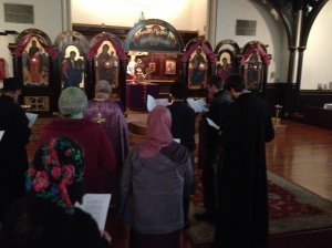 Moleben on March 22, 2013 attended by the faithful of Joy of All Who Sorrow and St. Constantine and Elena Orthodox Churches